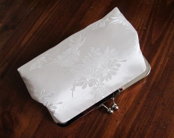 Bridal Ivory Silk Clutch,Bridal Accessories,Wedding Clutch,Bridal Clutch