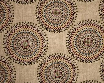 Custom made Designer fabric shower curtain Magnolia Home Fashions Carousel Ocean, tropic, neutral tones