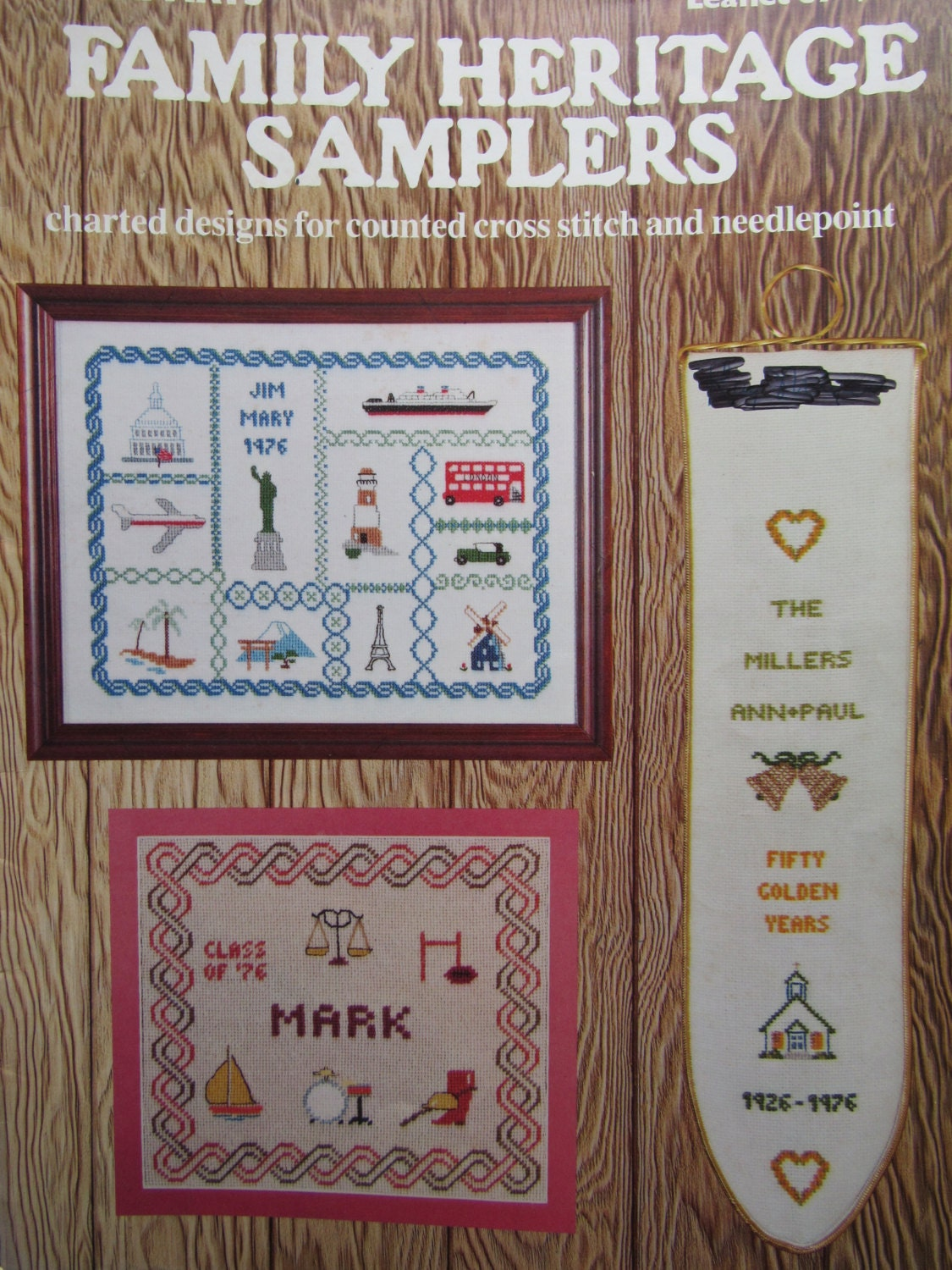 Family Heritage Samplers Counted Cross Stitch Patterns By Leisure Arts Needlecraft Home Decor