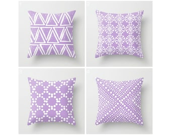 Lavender Throw Pillow - Modern Throw Pillow - Lavender Cushion - Decorative Pillow - Geometric Pillow - Throw Pillow 16 18 20 24 inch