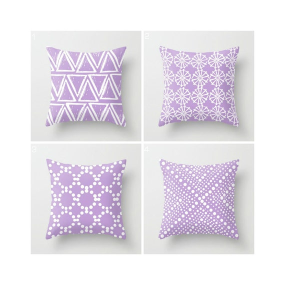 Lavender Throw Pillow - Modern Throw Pillow - Lavender Cushion - Decorative Pillow - Geometric Pillow - Throw Pillow 16 18 20 24 inch