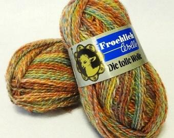 Stash Sale - Froehlich Wool Yarn, Sale Yarn, Earth  Tone Yarn, Wool Yarn, Yarn Sale, Rust Yarn, Brown Yarn - 2 balls