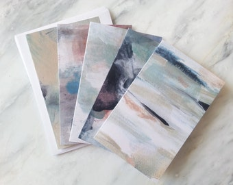 Set of 5 Blank Cards with Envelopes