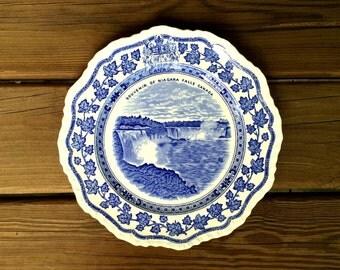 Vintage 1940's Niagara Falls Souvenir Plate - by Mason's of England