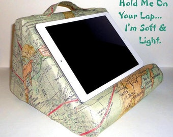 Ipad Pillow Stand #BookPillow #ReadCliner Reading Stand For Your Lap Padded And Upholstered For Your Room Decor