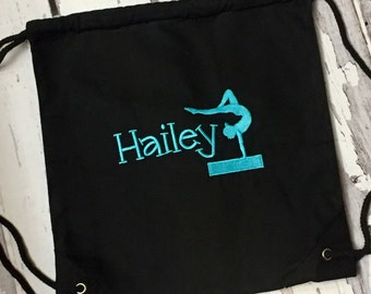 Personalized Drawstring Gymnast Backpack
