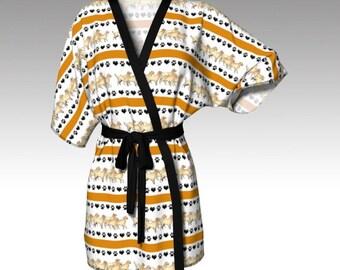 Golden Retriever Kimono Robe