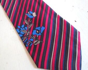 SALE Vintage 1960s Jan Syl Mister Monaco Silk Men's Necktie