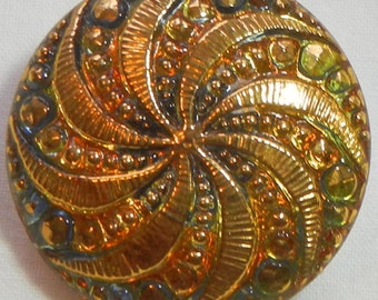 Twirler Czech Glass Button