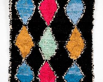 Black Beauty - vintage boucherouite berber rug