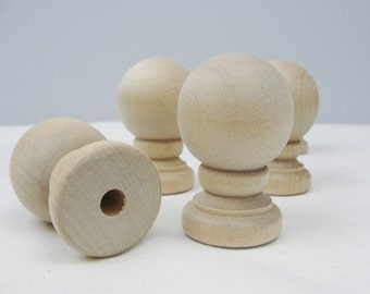 Wooden ball finial set of 5