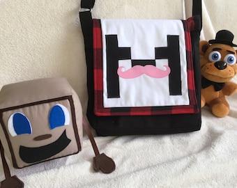 Markiplier inspired Messenger bag! Adjustable strap, Markiplier Youtuber. Made to Order
