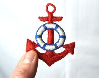 Fun Vintage Nautical Anchor Patch