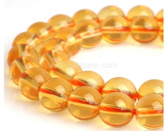 "U Pick Top Quality Natural Citrine Gemstone Loose Beads 4mm 6mm 8mm 10mm Round Spacer Beads 15.5"" #GH2"