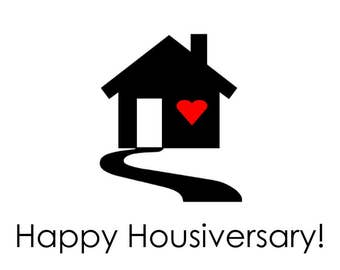 Happy Housiversary Simple Cards - Realtors 1 Year House Anniversary Cards Digital Download Printable