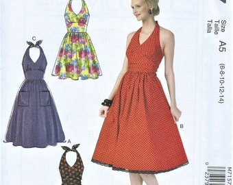 UNCUT McCall's Pattern M7157 Misses Dresses Size A5 (6-8-10-12-14) or (14-16-18-20-22)