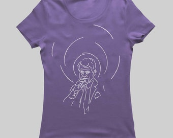 Bobby Kennedy - Women's & Men's T-Shirt - White on Shady Navy (Griot Apparel)