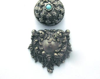 Silver Button Covers Mixed Lot Buttons