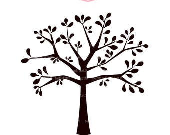 ON SALE silhouette tree Clip art , big black tree clip art , invitations .card making, scrapbooking , PNG Jpeg , Instant Down