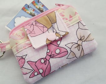 Zipper Wallet Pouch Key Holder Breast Cancer Ladies  Card holder -