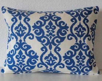Pillow Cover - Luminary Indigo - damask print - Cushion Cover