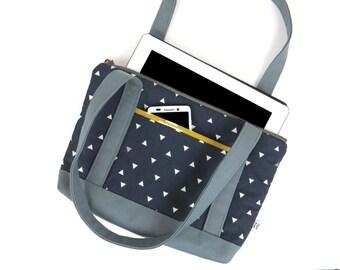 Tablet Tote - Observer - handbag, zipperbag, shoulder bag, ipad tote, kindle tote, purse
