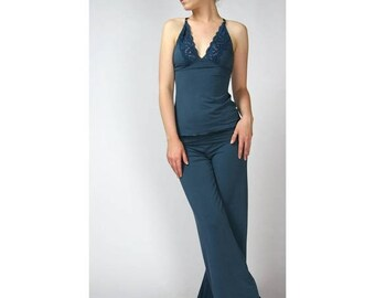 womens bamboo pants - GEM sleepwear range - made to order