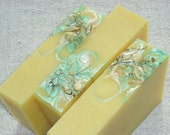 Lemon Tuberose Soap / lemongrass + Sweet Tuberose / Artisan Soap /  Handmade Cold Process Soap
