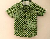 Boys Button Up St. Patricks Day Shirt- Oxford Button Up Shirt- Baby Boys Shirt- Toddler Boys Shirt- 3 6 12 18 Mths- 2 3 4 5 6 7 8 10 12 Yrs