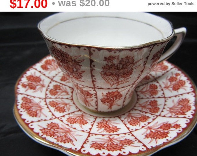 ROSINA Bone China Cup and Saucer Made in England Pattern 4-963, Bone China Cup and Saucer, Gift Cup and Saucer, England Rosina China Set