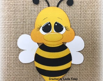 Spring Bee Premade Scrapbooking Embellishment Paper Piecing