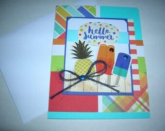 Hello Summer Card Handmade Summer Greeting hello summer