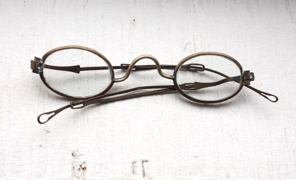 599736b8bcd Antique 1800s Eyeglasses    1700s Pre Civil War Era Sliding Arm Glasses     Optical
