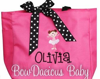 Dance Bag, Ballerina Bag, Custom Dance Bag, Girls Dance Bag, Ballet Bag, Custom, Choose your Ballerina