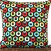 Retro Wreaths Christmas Pillow Cover Cushion Mod Black Red Lime Green Turquoise Orange White Polka Dots Stripes Decorative 18x18