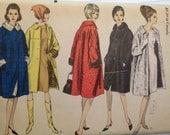 Vintage Coat Pattern 60s 1960s Vogue 6302 Uncut FF 34 bust size 14