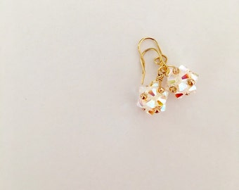 Swarovski crystal dangle earrings, wedding jewelry, bridesmaids gift