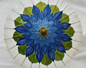 Parasol Blue Lotus Flower Parasol