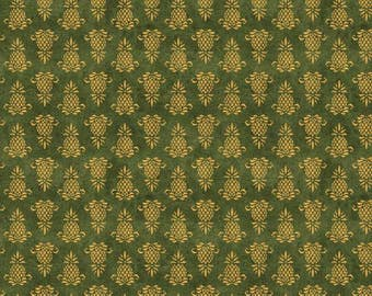 Wilmington Prints - The Way Home - Pineapple Icon - Green - Fabric by the Yard 82502-755