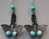Vintage Southwestern Turquoise Sterling Earrings