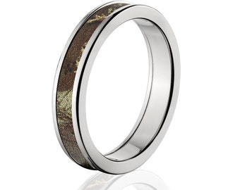 camouflage wedding band custom camo wedding ring realtree max camo pattern camo jewelry realtree max camo - Realtree Camo Wedding Rings
