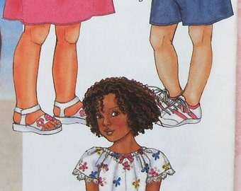 Girls Dress and Jumpskirt Sewing Pattern UNCUT Butterick 3543 Sizes 5-6X