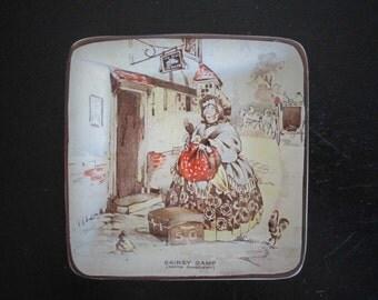 Sairey Gamp Martin Chuzzlewit Dickens Square Trinket Dish Staffs Teaset LTD Plex St. Pottery