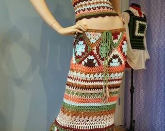 Womens Crochet Hippie Gypsy Top