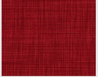 Red Fabric, 1 Yard, Quilt Fabric, Color Weave, by P&B Fabrics, CWEA 00200 D, Rich Red, Woven-look but not actually woven, Fine Fabric