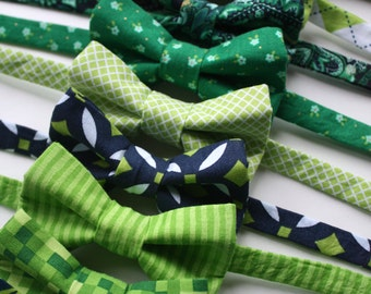 Little and Big Guy BOW TIE - Spring Easter St Patrick's Day -Navy and Green Collection - (Newborn-Adult) - Baby Boy Toddler Teen Man