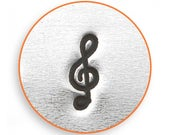 Treble Clef stamp, Treble Clef design stamp, Music stamp, metal stamp, Music theme design stamp, 6mm line stamp, Impressart stamp
