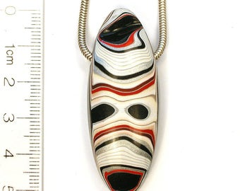 DVH Genuine Fordite Oval Focal Bead 51x20x11 (8402)