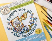 50% OFF SALE INSTANT Download Garden Blessings Adult and Childrens Christian Coloring Book  Bible Journaling Scripture Religious Digital Pri