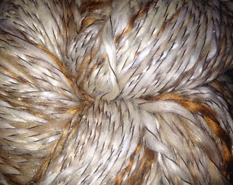 "217 Yards Luxury Two Ply Alpaca / Bamboo / Silk Yarn ""Butterscotch Frappe"""